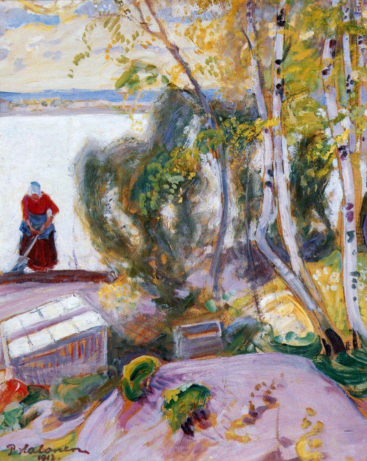 Pekka Halonen, Puutarhasta, 1913, The Life and Art of Pekka Halonen - http://www.alternativefinland.com/art-pekka-halonen/