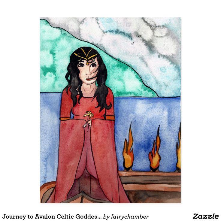 Journey to Avalon Celtic Goddess Postcard