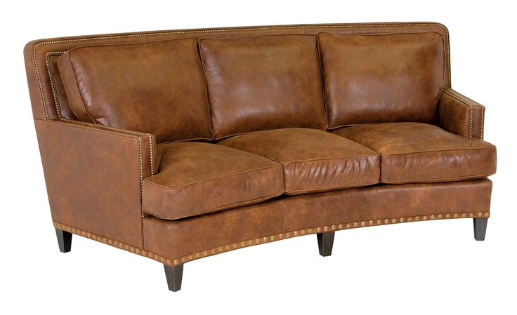 Classic Leather Palermo 90'' Curved Sofa | 8553-90
