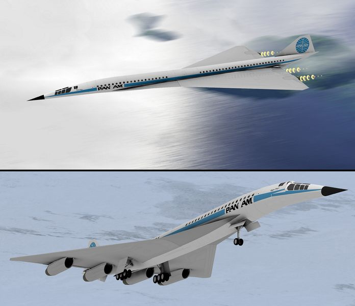 Lockheed L-2000 - supersonic aircraft ~ world plane