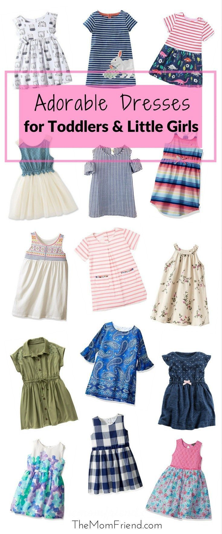 From playdate to photoshoot, these toddler dresses will keep them stylin'. The best part? Most are these are under $20!   baby girl fashion   toddler girl style   toddler outfit   little girl style   baby girl fashion   toddler summer dress   back to school outfit