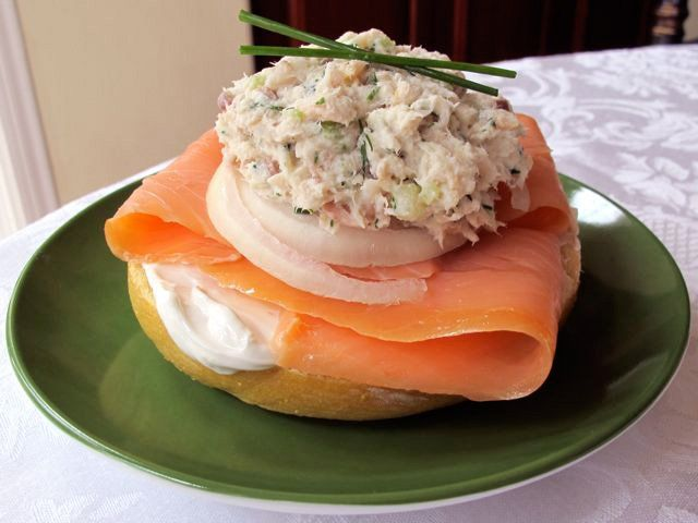 """Whitefish Salad - The history of smoked fish, """"appetizing"""" and a recipe for Jewish whitefish salad with celery and herbs. Kosher, dairy or pareve."""