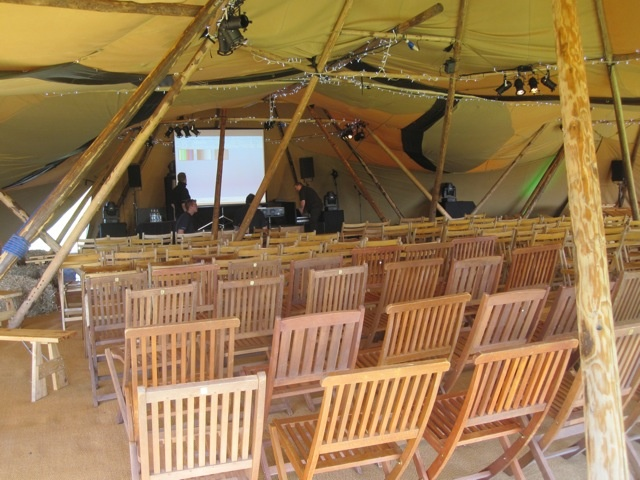 Tipis for business conferences