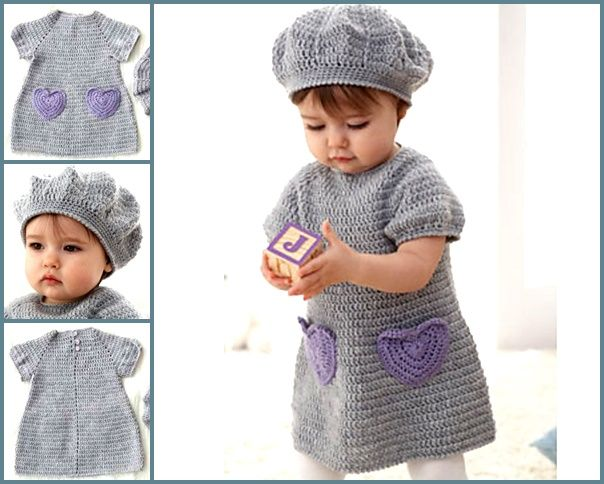 I heart my dress — Free crochet pattern  #diy #crochet #crafts