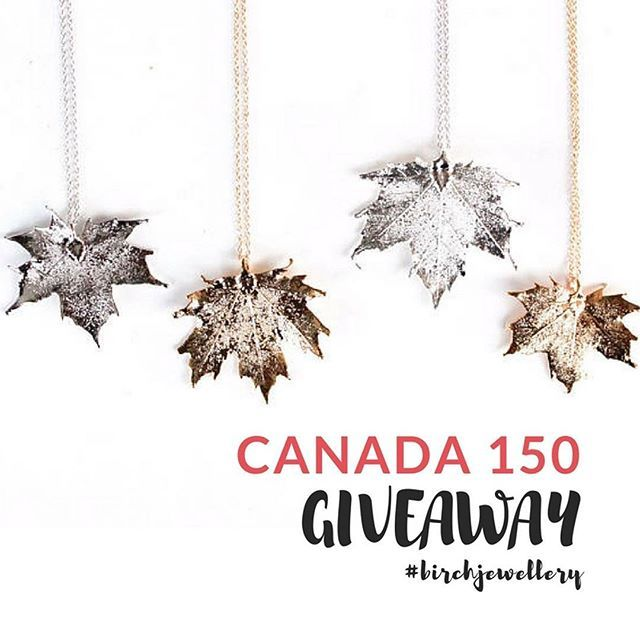 Enter for your chance to win a Birch Jewellery maple lead necklace! #Canada150