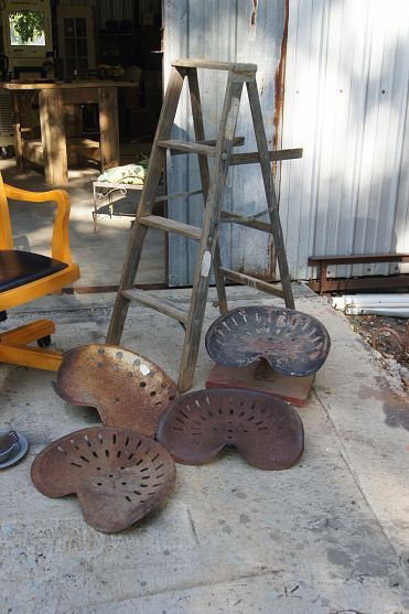 bar stools made from tractor seats found while on hometalk outing - Tractor Seat Stool