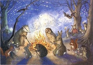 Molly Brett. Bonfire Night. When I was a kid, I loved her illustrations (still do) and wanted to write/draw similar stories when I grew up.