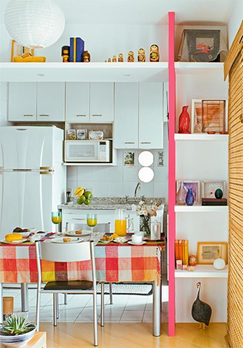 decoracao de sala pequena simples e barata : decoracao de sala pequena simples e barata:from casa 30 cozinhas pequenas e coloridas 30 cozinhas pequenas e