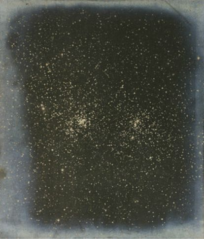 Isaac Roberts - Photograph of the Double Star Cluster in the constellation of Perseus taken on 13 January 1890 with an exposure of 4 hours.