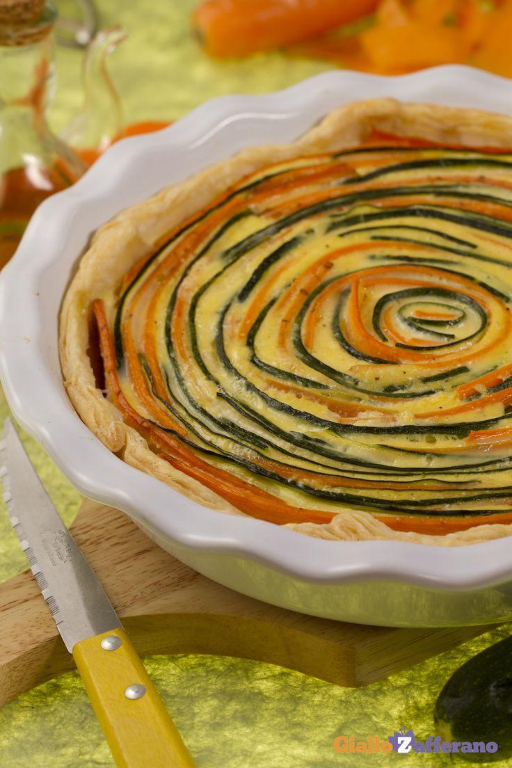 La torta salata di #verdure (vegetable tart), un piatto unico in cui la pasta…
