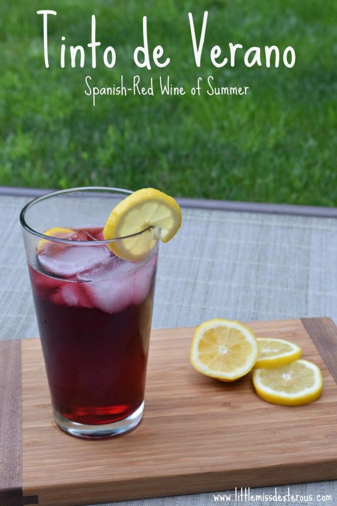 Light, refreshing, and simple is this Tinto de Verano-  Spanish for Red Wine of Summer! Absolutely delicious!