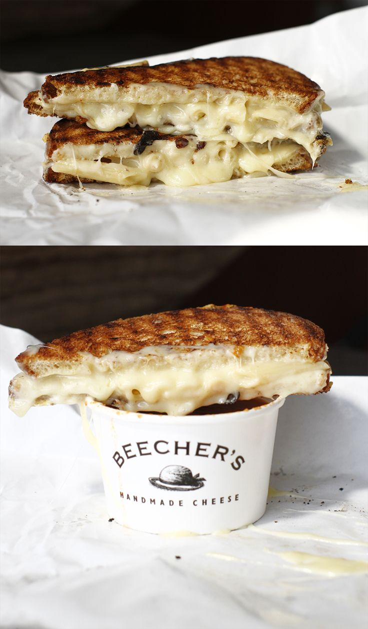 Beecher's Secret: Mac & Cheese Grilled Cheese Sandwich. At Seattle's Pike Place Market.