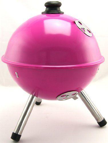 Mini Grill BBQ-Grill Grill Kugel Picknickgrill Rosa Pink von BBQ,