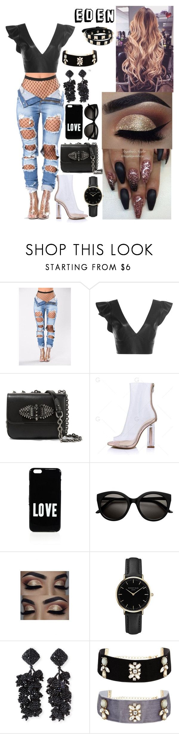 """""""Untitled #170"""" by eden-sahar-1 ❤ liked on Polyvore featuring Isabel Marant, Christian Louboutin, Givenchy, ROSEFIELD, NOIR Sachin + Babi and Valentino"""
