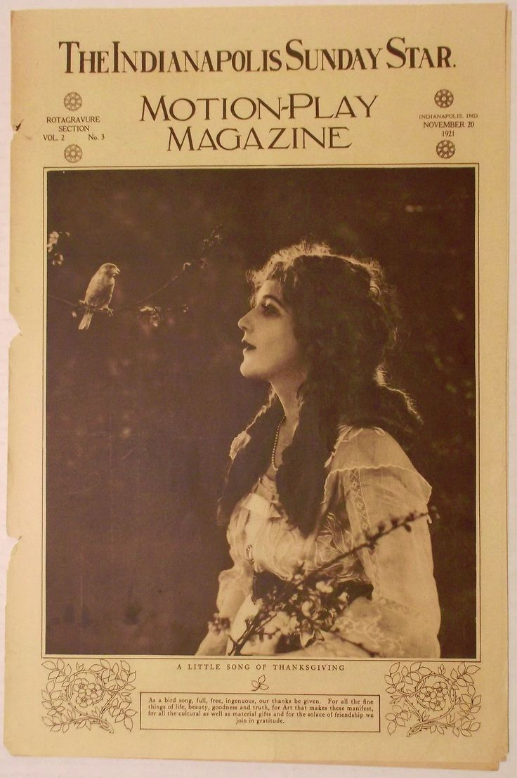 1921 Movie Magazine~thanksgiving~the Begger Maid~edward Burne-jones~lois Wilson