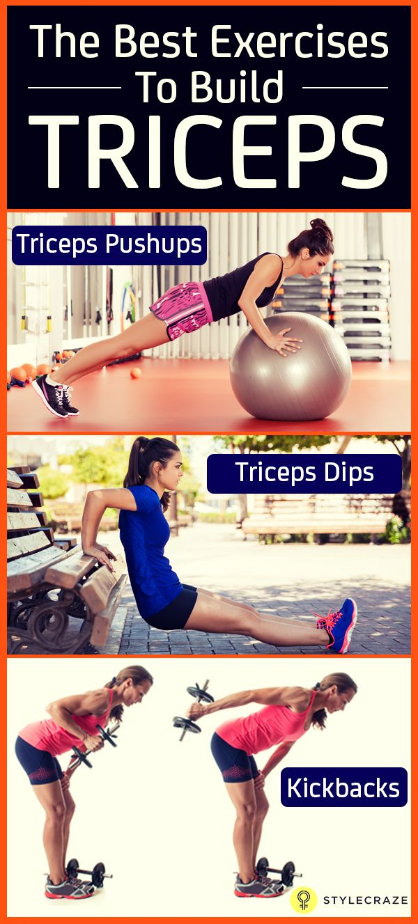 Triceps cover 2/3rds of your arms and it s important to work them out to gain muscle on your arm. Here are some of the best triceps exercises you can add to your routine.