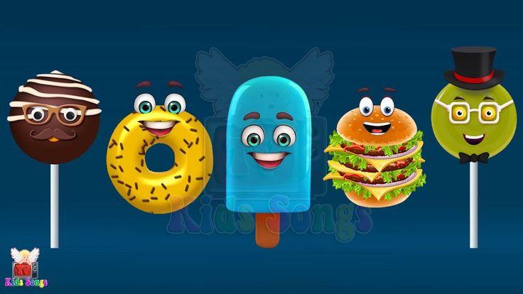Burger, Chocolate Pop, Donut, Lollipop, Ice Fruit Finger Family Songs   Nursery Rhyme For Children