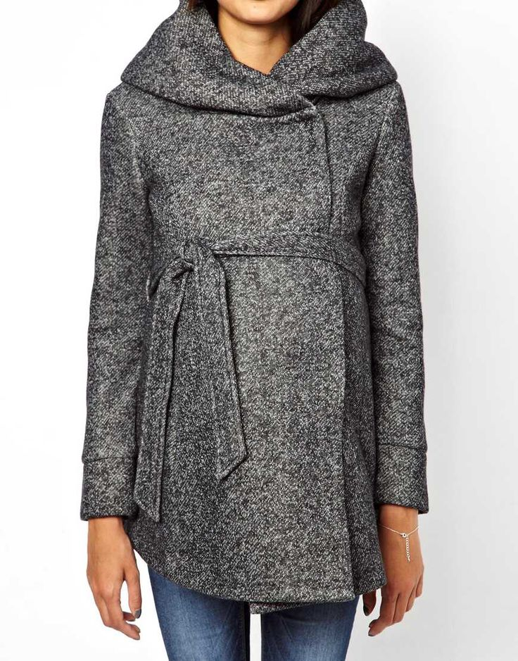 Image 3 of New Look Maternity Snood Coat
