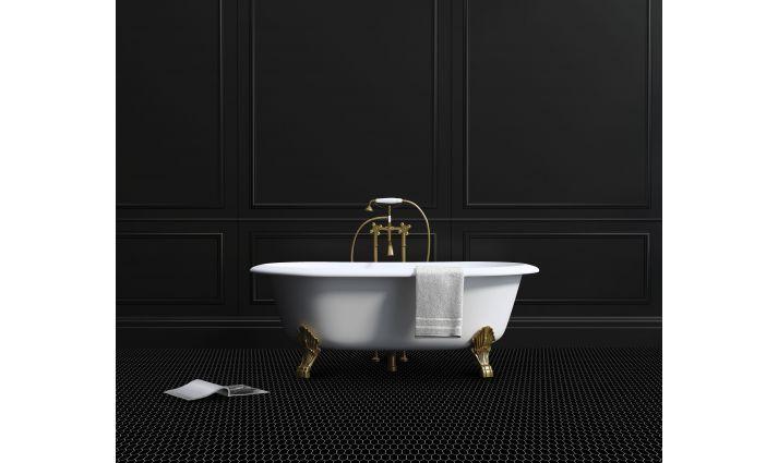 mozaika ceramiczna czarny heksagon matowy piekne kafle do nowoczesnych mieszkan