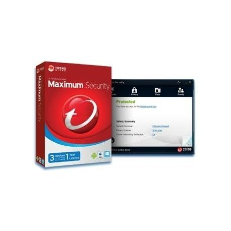 Trend Micro Maximum Security 2014 3PC  Condition New Trend Micro™ Titanium™ Maximum Security  Advanced protection and privacy controls designed for use on PCs, Macs, and mobile devices.  $42.35