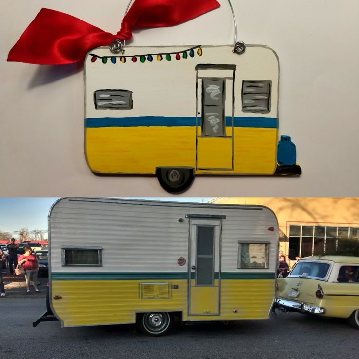 Camper Christmas Ornament by My Latest Project by Liz .... You can find me on Instagram