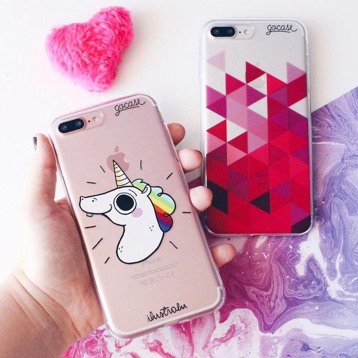 Menos segunda-feira é mais fofura! {cases: unicórnio animado e triângulo rosa}  [NA COMPRA DE DUAS GOCASES VOCÊ GANHA 50% OFF NA TERCEIRA]  #gocasebr #instagood #pink #iphonecase #unicorn #gocaseblack #blcknov #amogocase