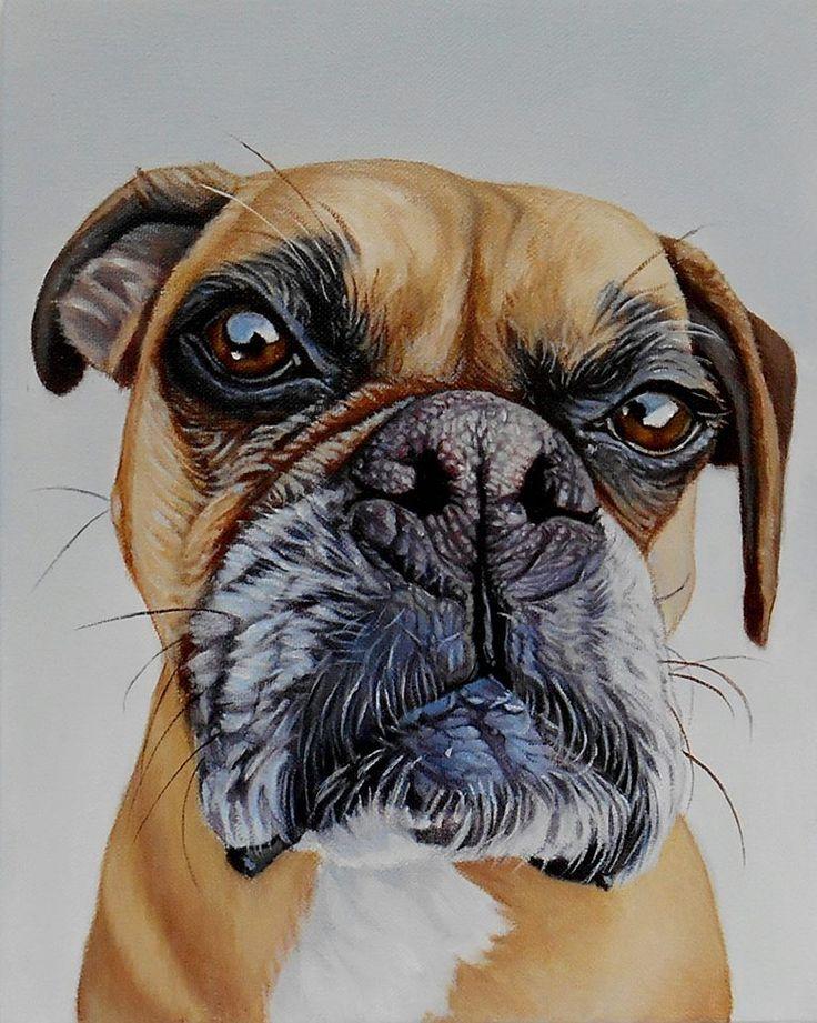 """ Annabelle "" by James Ruby ,Oil on Canvas . jamesrubyworks.com ; dog painting"
