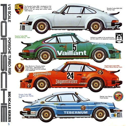 illustration of porsche 934 turbo tamiya plastic model catalog 1970s graph. Black Bedroom Furniture Sets. Home Design Ideas