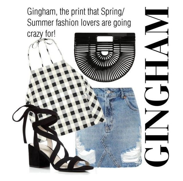 """""""Gingham!"""" by alana-alford on Polyvore featuring Topshop, rag & bone, Kenneth Cole and Cult Gaia"""