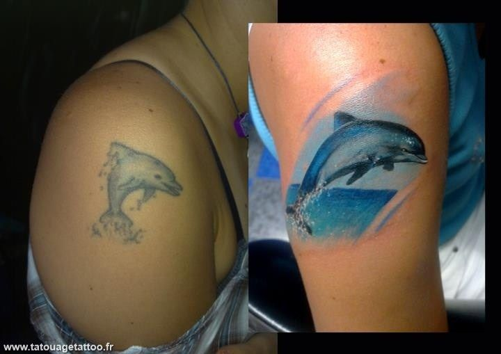 Cover UP Tattoos Pictures | Dolphin Tattoos | Pinterest ...