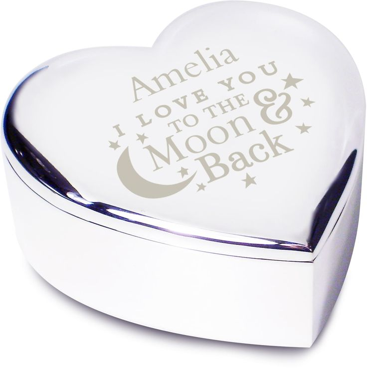 Personalise this charming Heart Trinket box with a Name up to 12 characters.