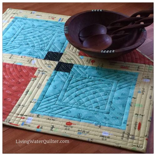 Free-Motion Quilting Ruler Work Arc and straight template