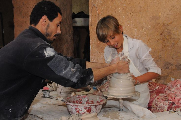Marrakech - Pottery class at the Beldi Country Club Hotel