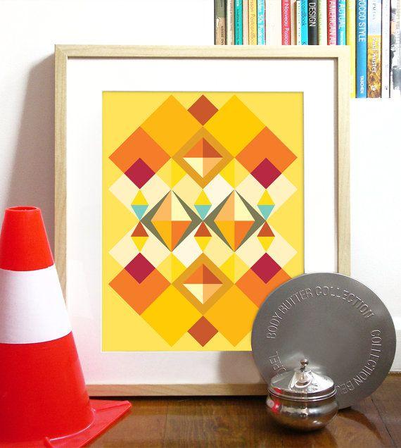 Parte del manifesto giallo modello tribale africana della mia collezione di bellezza africana di ispirazione tribale africana tessuto motivi motivi e colori africani