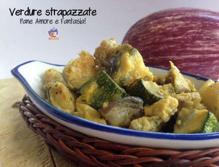 Verdure strapazzate: zucchine e melanzane