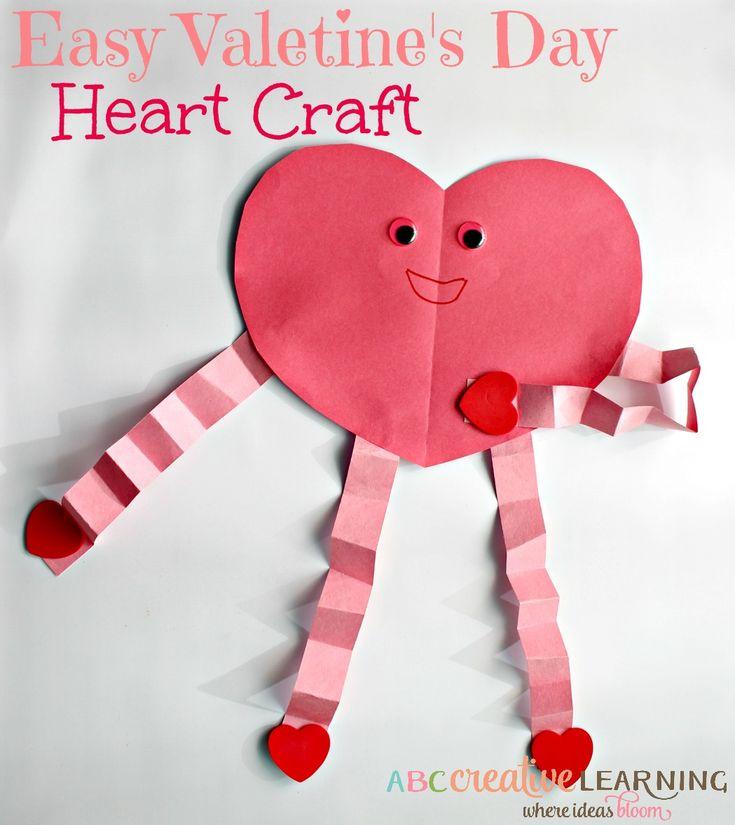 Easy Valentine's Day Heart Craft - abccreativelearning.com