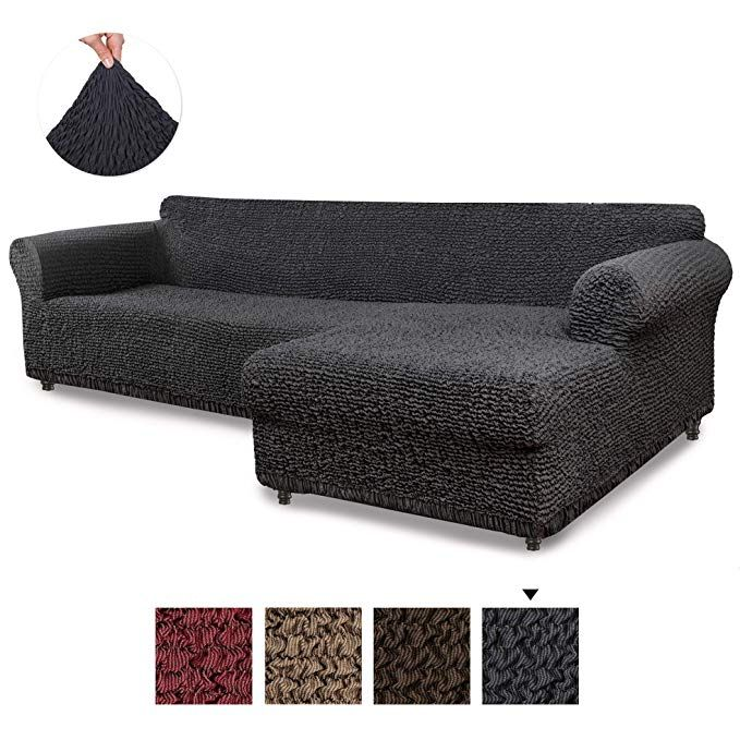 Sectional Sofa Cover Sectional Couch Covers L Couch Cover Cotton Fabric Slipcovers 1 Piece Form Sectional Couch Cover Furniture Slipcovers Couch Covers