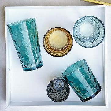 love this drinkware, turquoise and amber together...