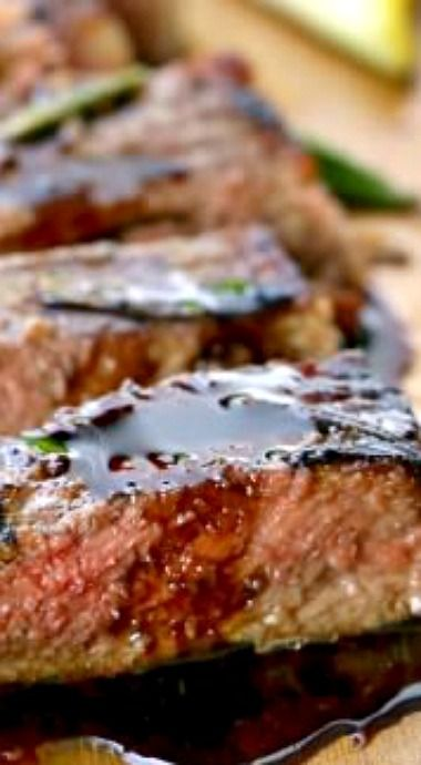Dick makes baked new york strip steak Mia can