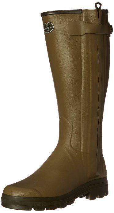 New Le Chameau Footwear Men's Chasseur Cuir Rain Boot Vert Verizon EU 42 US 9 #LeChameau #Rainboots