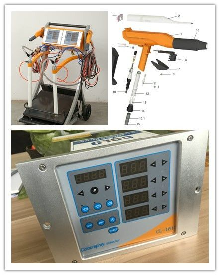 Dual system vibrator Powder coating machine, Powder coating Set - COLO powder coating machine