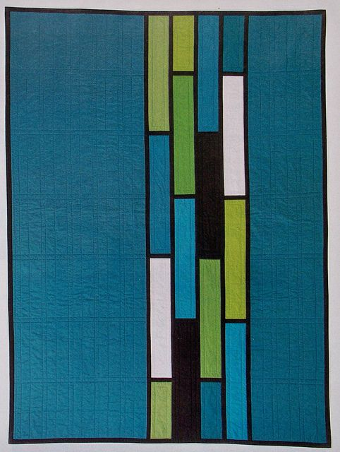 "Boldly beautiful ""Maynard Plaza"" quilt by Debbie Grifka of Esch House Quilts."