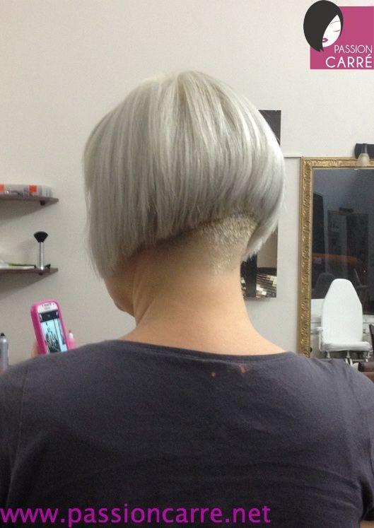 nuque blond platine plongeant carré – short coupe de cheveux bob a-line10
