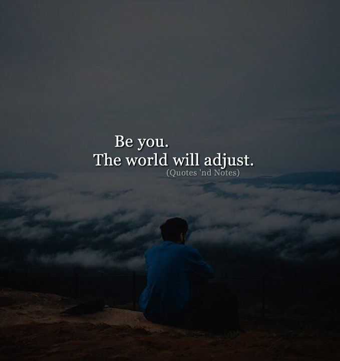 Be you. The world will adjust. via (http://ift.tt/2EczVGV)