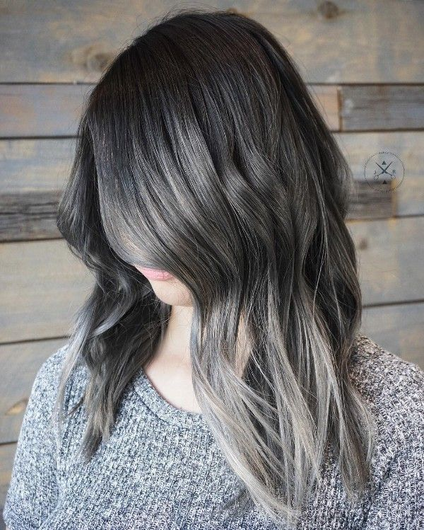 black and gray hair