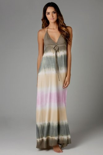 Amazon.com: Debbie Katz South Beach Knits Maxi Dress - Pink/Camel - L: Debbie Katz South Beach: Clothing