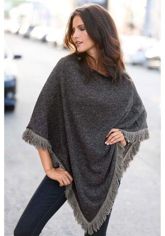 Pončo s třásněmi #ModinoCZ #ponco #autumn #fall #fashion #moda #comfortable #trend #styl
