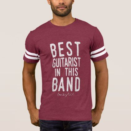 Best Guitarist (maybe) (wht) T-Shirt - metal style gift ideas unique diy personalize