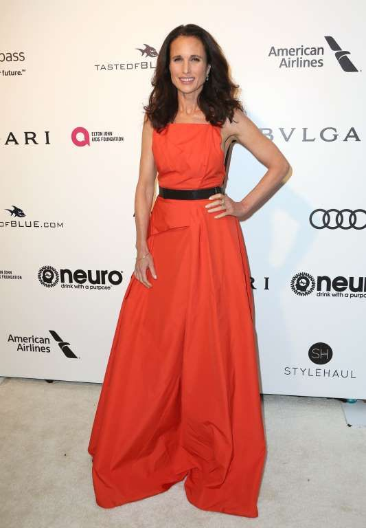 Andie MacDowell attends the 25th Annual Elton John AIDS Foundation Academy Awards Viewing Party at West Hollywood Park on Feb. 26, 2017.