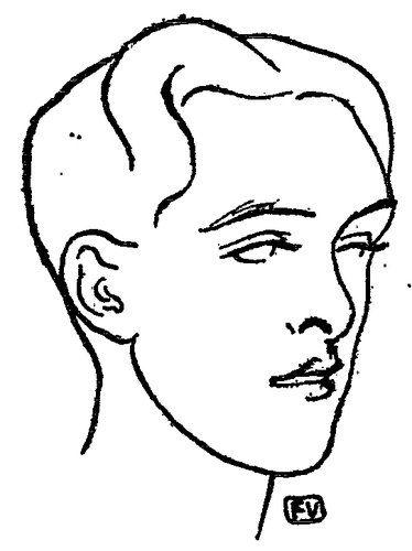 Felix Vallotton「British poet Alfred Douglas」